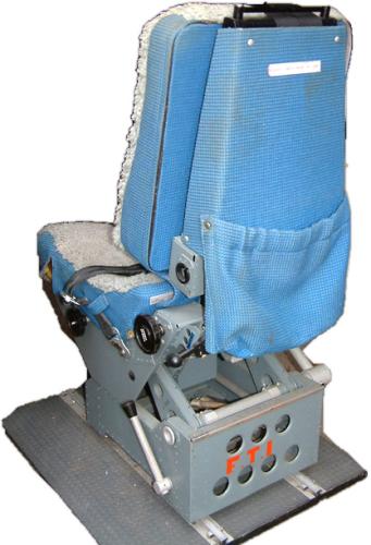 Aircraft Seats: Aircraft Pilot Seat With Rails