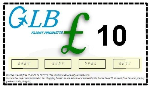 £10 Gift Vouchers: GLB Flight Products