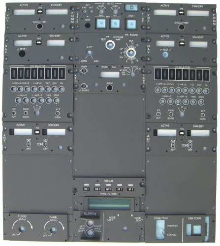 Boeing full pedestal panels set