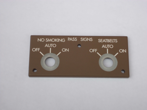 Smoking & seatbelts panel