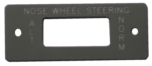 Nose wheel steering panel