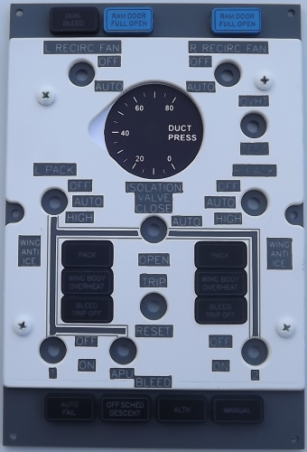 Duct Pressure control panel