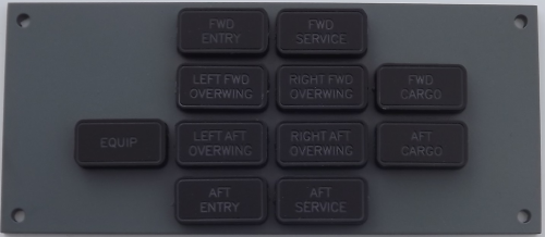 Boeing 737 doors indicator panel