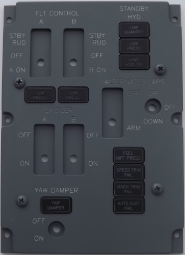 Standby flight controls panel