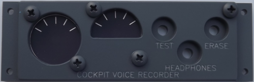Cockpit voice recorder panel