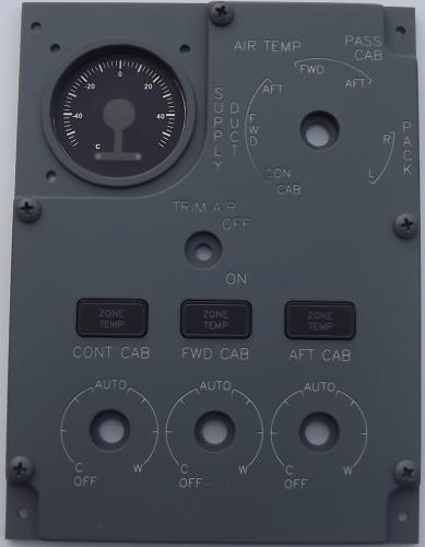 Air flow control panel