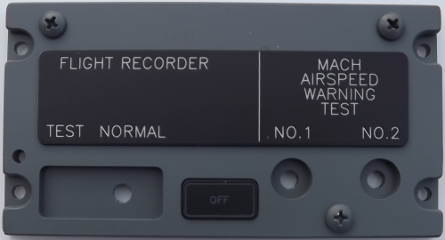 Flight recorder and Mach speed test