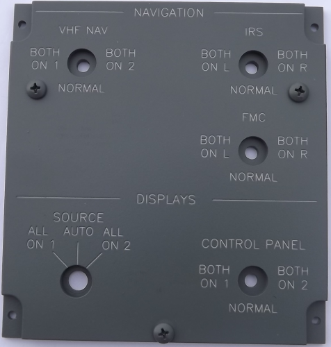 Navigation and display overhead panel