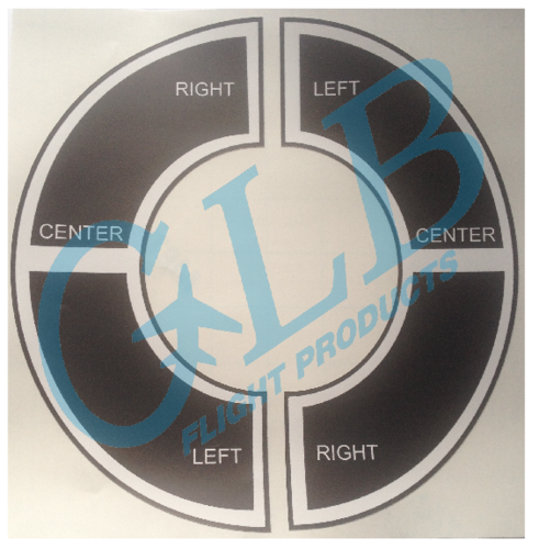 Boeing tiller handle decals
