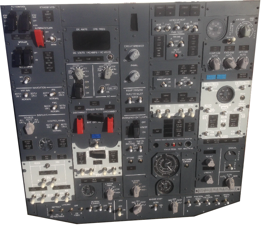 Plug and play replica Boeing 737 overhead - GLB Flight Products
