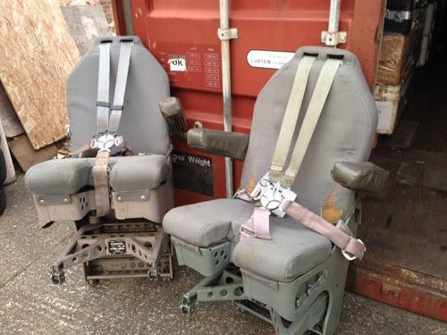 REDUCED Pair of grey aircraft cockpit seats (2)