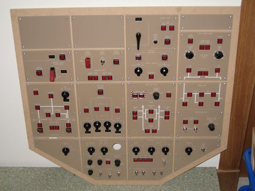 REDUCED Boeing brown 777/767/757 replica overhead panel