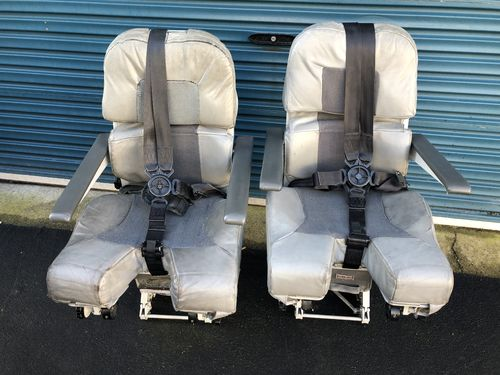 Matching pair of real aircraft seats (Including harnesses!)