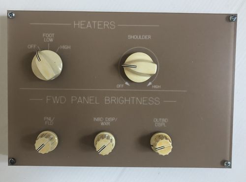 Heaters (other) and panel brightness panel
