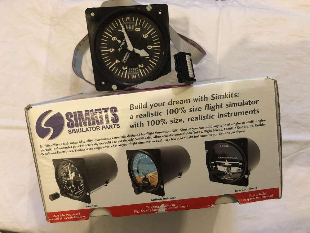 Simkits Altimeter Guage  Servo driven, FS compatible  - GLB Flight