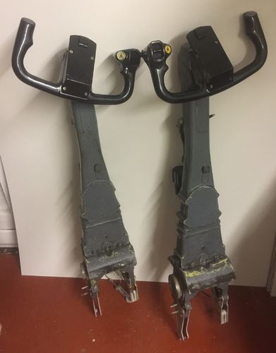 Pair of AVRO RJX control yokes and columns
