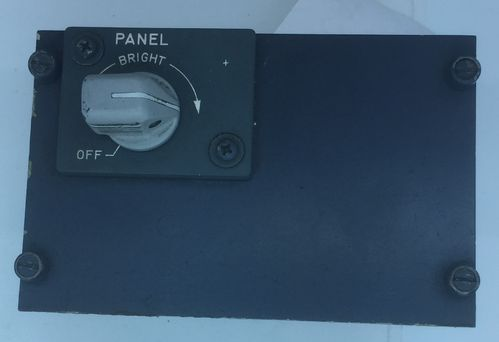 Boeing lighting control panel