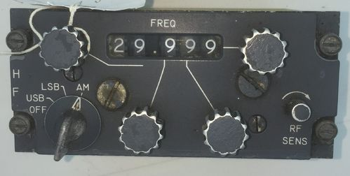 Collins High frequency radio panel