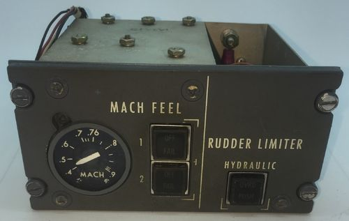 Mach feel/Rudder limiter panel