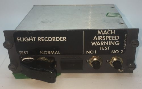 Flight Recorder and Mach Airspeed Warning Panel.