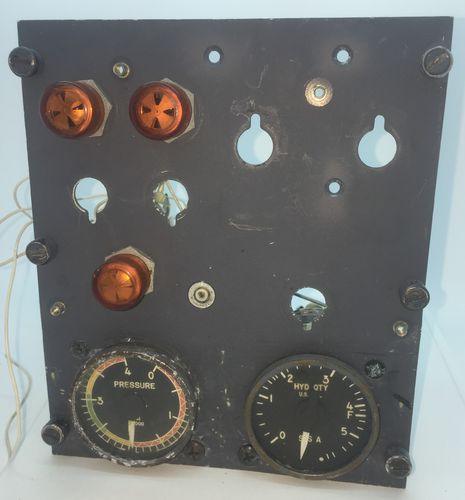 Hydraulic System Back Panel with Gauges