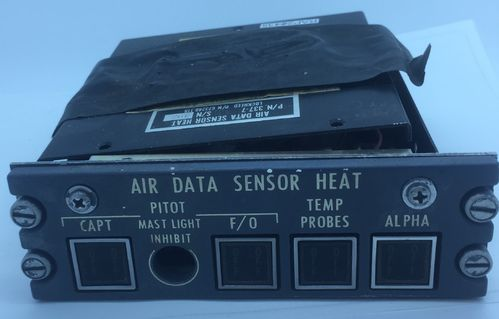 Air data sensor heat panel