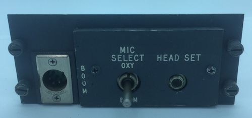 MIC and headset panel.
