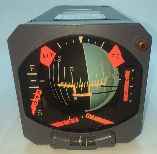 Boeing Aircraft attitude indicator/artificial horizon by Sperry