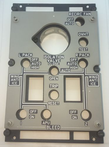 Real Boeing 737 APU / Anti-Ice Panel c/w backlighting (Working)