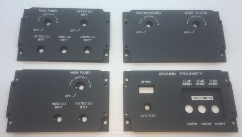 Set of 4 Boeing 737 replica lower dus panels.