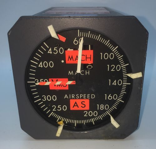 Air France Mach Speed Gauge by Sperry